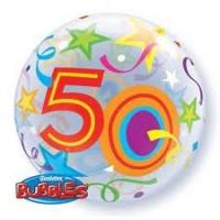 """Brilliant Stars 22"""" Single Bubble  - 50"""