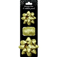 Luxury Gold Bows and Ribbon 12ct