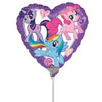 "My Little Pony Heart 9"" - Inflated With Cup & Stick"