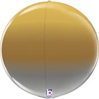 """Metallic Ombre 15"""" Globe"""