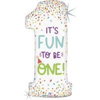 """Fun to be One 46"""" Supershape Foil Balloon"""
