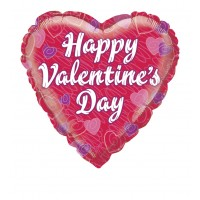 "Happy Valentines Day Heart Shaped 18"" Foil Balloon"