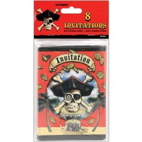 Pirate Invitations 8ct