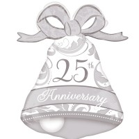 """25th Anniversary  27"""" Shape Foil Balloon"""