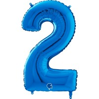 "Number 2 Blue 26"" (Unpackaged) Foil Balloon GRABO"
