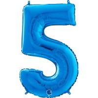 "Number 5 Blue 26"" (Unpackaged) Foil Balloon GRABO"