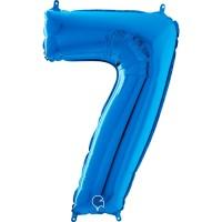 "Number 7 Blue 26"" (Unpackaged) Foil Balloon GRABO"