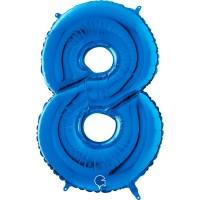 "Number 8 Blue 26"" (Unpackaged) Foil Balloon GRABO"
