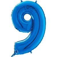 "Number 9 Blue 26"" (Unpackaged) Foil Balloon GRABO"