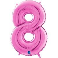 "Number 8 Fuschia 26"" (Unpackaged) Foil Balloon GRABO"