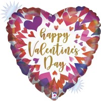 """Opal Ombre Happy Valentine's Day 18"""" Foil Balloon"""