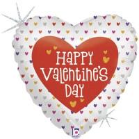 "Happy Valentine's Day Small Hearts 18"" Foil Balloon"