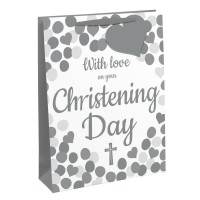 With Love On Your Christening Day Medium Gift Bags 6ct