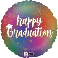 """Happy Graduation Stars 18"""" Foil Balloon"""