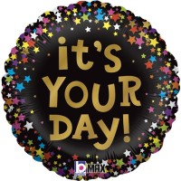 """It's Your Day Stars 18"""" Foil Balloon"""