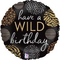 "Happy Birthday  Wild  18"" Foil Balloon"