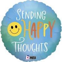 "Sending Happy Thoughts 18"" Foil Balloon"