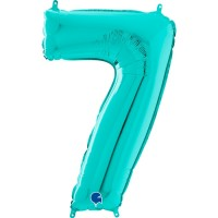"Number 7 Tiffany 26"" Foil Balloon GRABO"