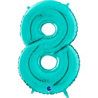 "Number 8 Tiffany 26"" Foil Balloon GRABO"
