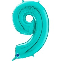 "Number 9 Tiffany 26"" Foil Balloon GRABO"