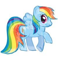 "My Little Pony Rainbow Dash Shape 28"" x 27"""