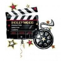 Hollywood Clapperboard 29in x 30in Supershape Foil Balloon