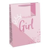 Hello Baby Girl Large Gift Bag 6ct