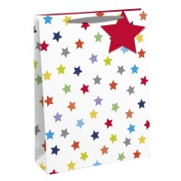 Colourful Star Large Gift Bags 6ct