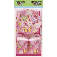 Pink and Yellow Butterflies Party Pak