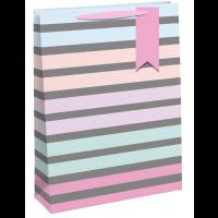 Pastel Stripes Medium Bags 6ct