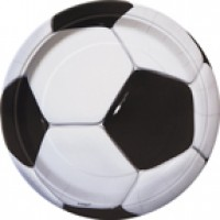 3-D Soccer 9'' Plates 8 CT.