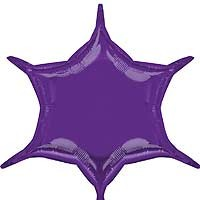 Purple 6 Point Star - Flat (3ct)