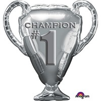 Champion# Trophy Supershape 28in x 21in  Foil Balloon
