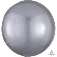 """Silver Orbz Balloon 15"""" x 16"""""""