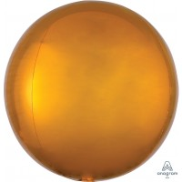 "Gold Orbz Balloon 15"" x 16"""