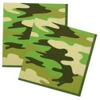 Camo Luncheon Napkins 16ct
