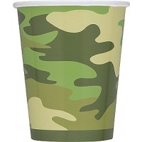 Camo 9oz Cups 8ct