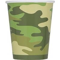 Camo 9oz Cups 8ct