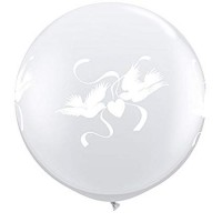 Wedding Doves 3ft Latex Balloons 2ct