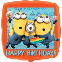 "Minions Happy Birthday 18"" Foil Balloon"