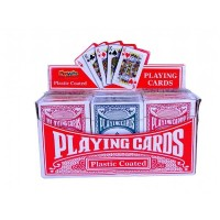 Plastic Coated Playing Cards Box Of 12