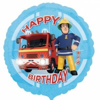 "Fireman Sam Happy Birthday 18"" Foil Balloon"