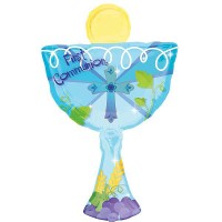 1st Communion Blue Chalice Shape - 50cm X 78cm