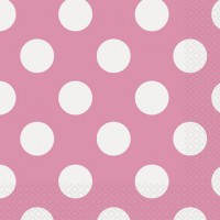 Hot Pink. Dots Napkins 16 CT.