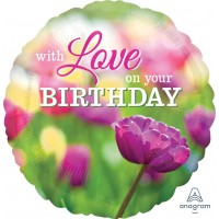 """With Love On Your Birthday 18"""" Foil Balloon"""