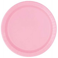 "Lovely Pink 9"" Round Plates 16 CT."