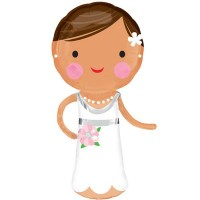 Lovely Bride Shape 101cm x 48cm