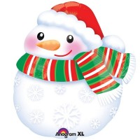 "Snowman Junior Shape 17""x14"" Foil Balloon"