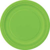 Lime Green 9'' Round Plates 16 CT.