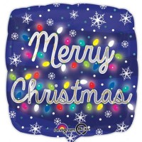 "Merry Christmas Lights - 18"" foil"
